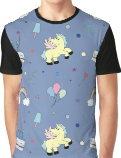 Happy Birthday Party seamless pattern with pony Graphic T-Shirt