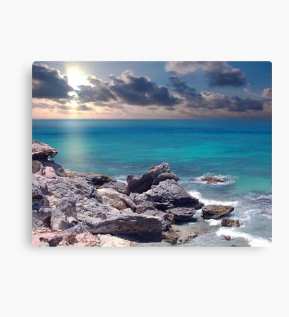 Sunrise on Campeche Beach  Canvas Print