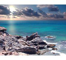 Sunrise on Campeche Beach  Photographic Print