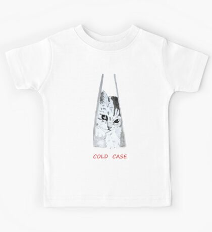 """dessin chat """"cold case"""" Kids Tee"""