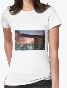 Northern Train Bridge Womens Fitted T-Shirt