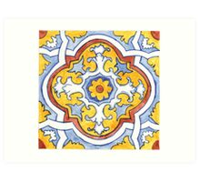 Talavera Tile 110 Art Print