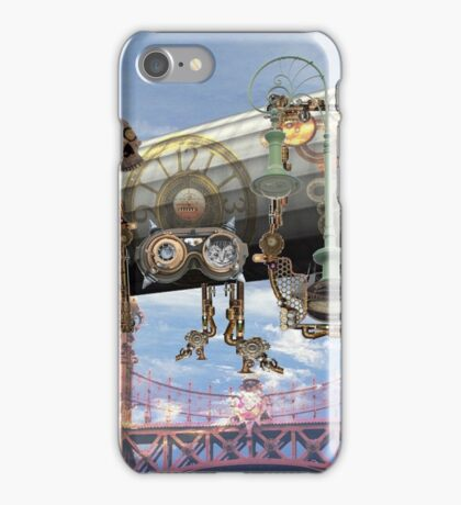 zeppelin steampunk at rest in Budapest iPhone Case/Skin