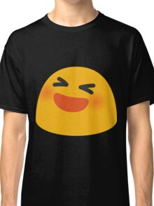 Smiling face with open mouth and tightly-closed eyes emoji Classic T-Shirt