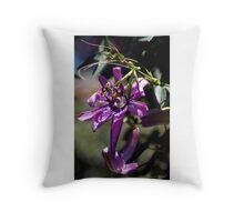 Lavender Lady Passion Flower Throw Pillow