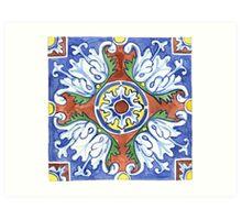 Talavera Tile 115 Art Print