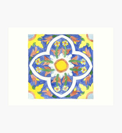 Talavera Tile 120 Art Print