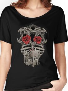 snake three head skull flower Women's Relaxed Fit T-Shirt