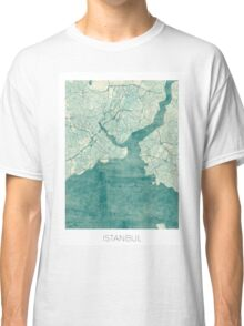 Istanbul Map Blue Vintage Classic T-Shirt