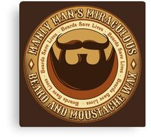 Manly Beard Wax Canvas Print
