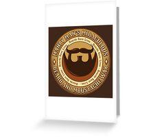 Manly Beard Wax Greeting Card