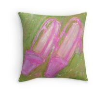 Two Pink Shoes Throw Pillow