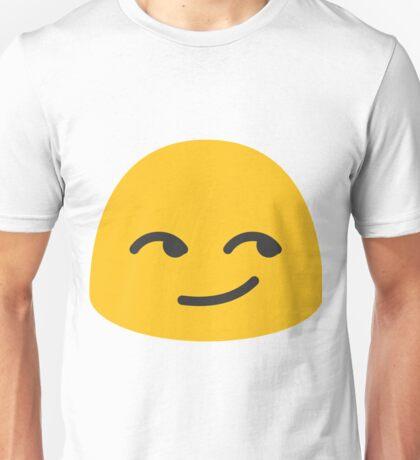 Smirking face emoji Unisex T-Shirt