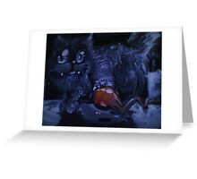 playing at night Greeting Card