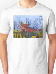 Canal Barn with Figure Unisex T-Shirt