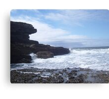 Sky, Rocks, Sea Metal Print