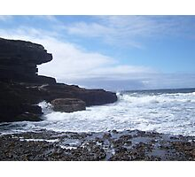 Sky, Rocks, Sea Photographic Print