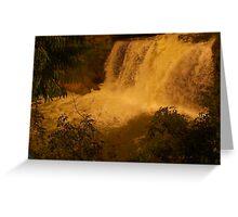 Medina Falls,  Medina, NY Starr1949 redbubble community photo photography art amber sun water falls waterfalls  Greeting Card
