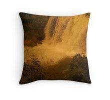 Medina Falls,  Medina, NY Starr1949 redbubble community photo photography art amber sun water falls waterfalls  Throw Pillow