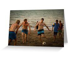 Bule Soccer Greeting Card