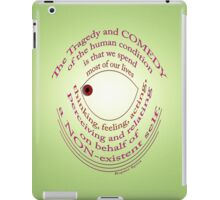 COMEDY ~ TRAGEDY iPad Case/Skin