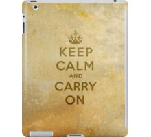 Keep Calm and Carry One Old Vintage Background iPad Case/Skin