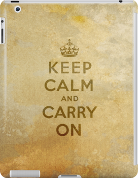 Keep Calm and Carry One Old Vintage Background by houk