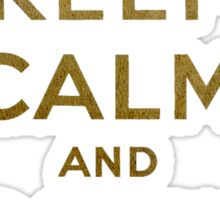 Keep Calm and Carry One Old Vintage Background Sticker