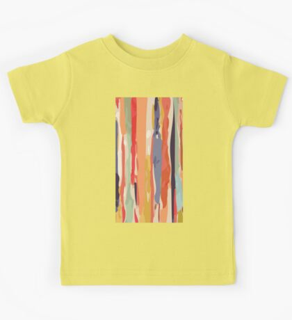 Abstract Vertical brush in MultiColor Kids Tee