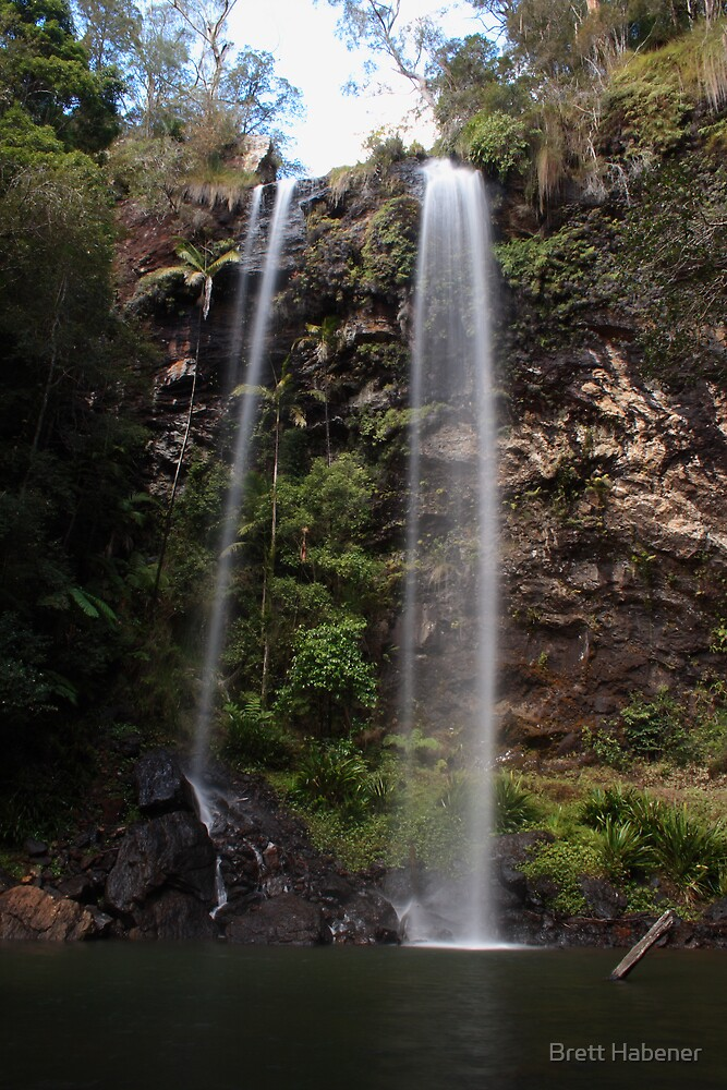 Twin falls, Qld by Brett Habener