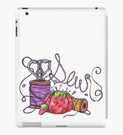 Sewing necessities, Crafting, Thread, Sissors iPad Case/Skin