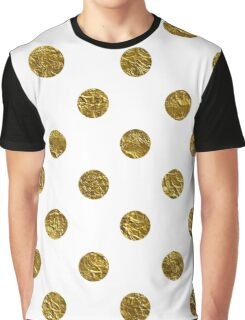 gold polka dots on white | Pattern Graphic T-Shirt