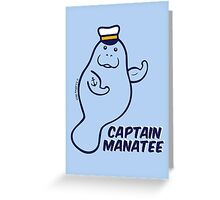 Captain Manatee Greeting Card