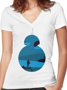 Star Wars VII - Starship Women's Fitted V-Neck T-Shirt