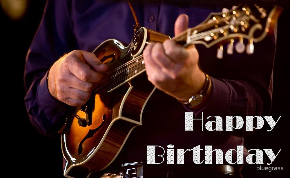 F5 Mandolin Birthday Card 001 by bluegrass