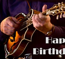 F5 Mandolin Birthday Card 001 by bluegrass