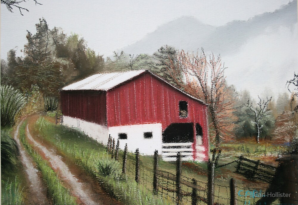 old barn by Carl Hollister