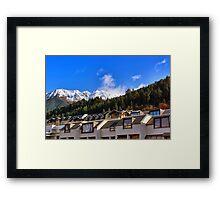 Mountain Homes Framed Print