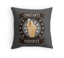 Constants & Variables Throw Pillow