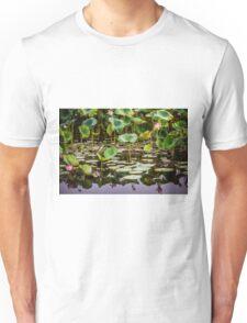Water Lilies Yellow Water Unisex T-Shirt