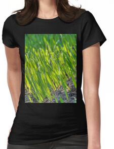 Morning Grass 2 Womens Fitted T-Shirt