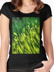 Morning Grass 5 Women's Fitted Scoop T-Shirt