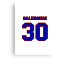 National baseball player Denny Galehouse jersey 30 Canvas Print