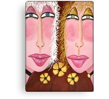 """Goldie & Marla...From the """"Glamour Girls"""" Series Canvas Print"""