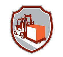 Forklift Truck Box Shield Retro by patrimonio