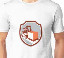 Forklift Truck Box Shield Retro Unisex T-Shirt
