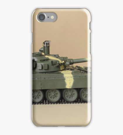 Soviet tank T-72 side view iPhone Case/Skin