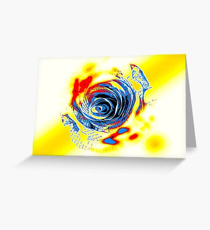 The Paper Trips Comic Rose Greeting Card
