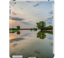 Yellow Water Sunset Reflections iPad Case/Skin
