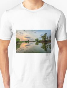 Yellow Water Sunset Reflections Unisex T-Shirt